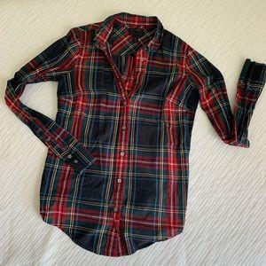 J. Crew plaid button down shirt size 2 Tall
